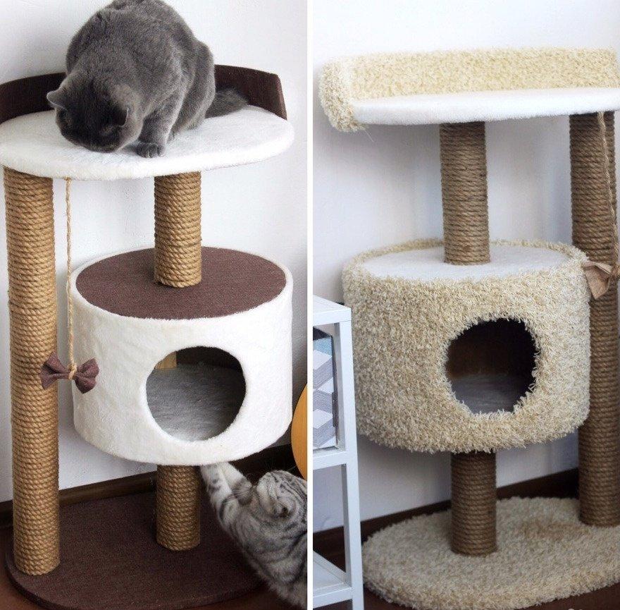 домики для кошки своими руками фото помощью можно